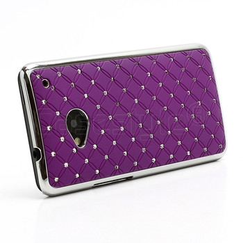 HTC One M7 Bling Chrome Case Purple