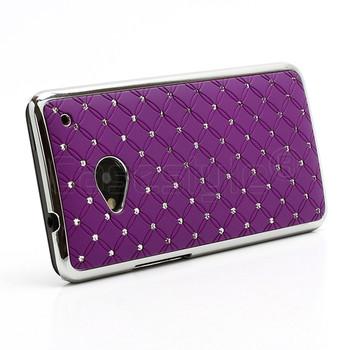 HTC One M7 Bling Chrome Case Purple