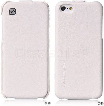 iPhone 5C Hoco Duke Leather Flip Case White