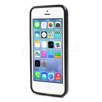 iPhone 5C Bumper Black with Clear Back