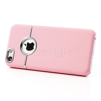 iPhone 5C Chrome Trim Case Pink