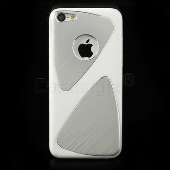 iPhone 5C Brushed Aluminum Case White