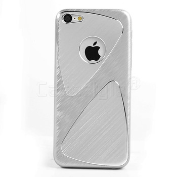 iPhone 5C Brushed Aluminum Case Silver