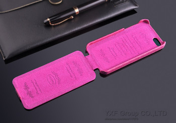 iPhone 5C Genuine Leather Flip Case Cover Pink