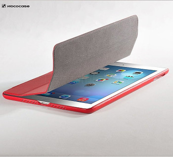 Hoco Duke iPad Air 2 Leather Smart Cover Red