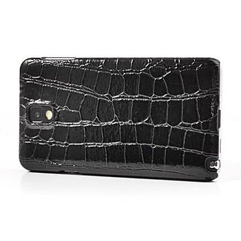 Samsung Galaxy Note 3 Crocodile Style Leather Case Black