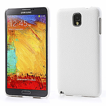Samsung Galaxy Note 3 Leather Back Case White