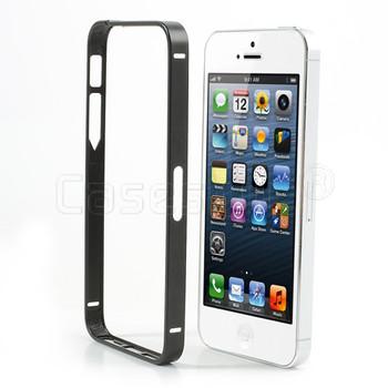 iPhone 5S 5 Thinnest Aluminum Metal Bumper Black