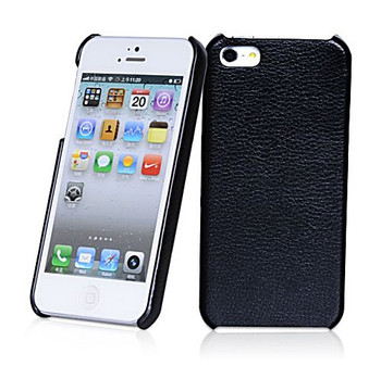 iPhone 5S Leather Back Case Black