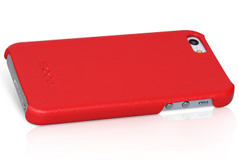 iPhone 5S Leather Back Case Red