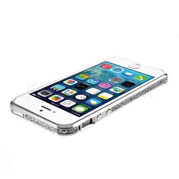 iPhone 5S Diamond Inlaid Luxury Bumper Case Silver