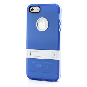iPhone 5S Silicone Skin+Bumper Blue