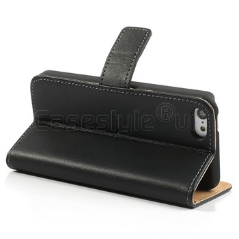 iPhone 5C Leather Wallet Case Black