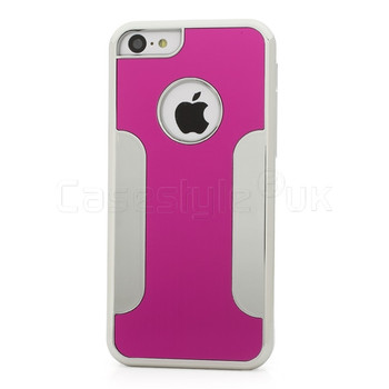 iPhone 5C Brushed Metal Case Pink