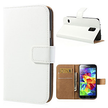 Samsung S5 Neo phone wallet white