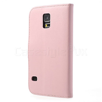 Samsung Galaxy S5|S5 Neo Leather Wallet Case Pink