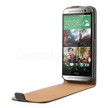 HTC One M8 Leather Flip Case