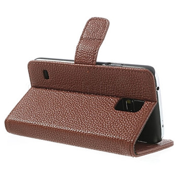 Samsung Galaxy S5|S5 NEO Wallet Case Brown