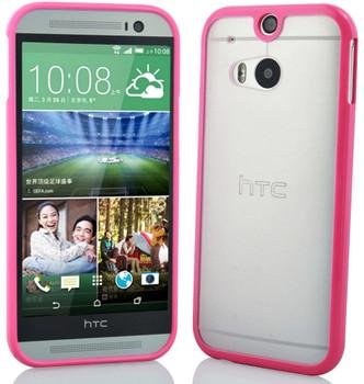 HTC one m8 bumper clear back