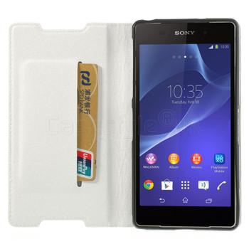 Sony Xperia Z2 Wallet Flip Case White