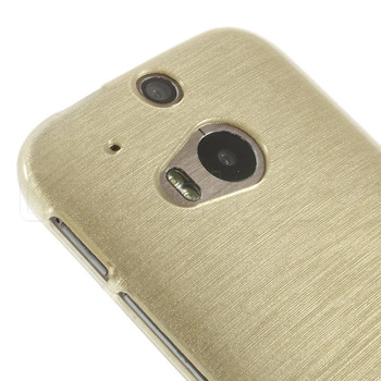 HTC One M8 Silicone Gel Skin Gold