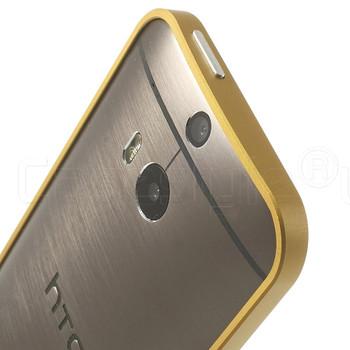 HTC One 2 M8 Aluminum Bumper Case Gold