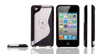 iPod Touch 4G S Design Gel Case Black