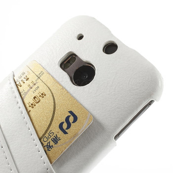HTC One M8 Leather Back Case White