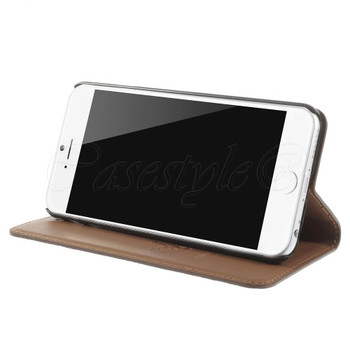 iPhone 6 6S Genuine Leather Slim Cover Brown