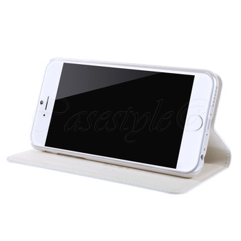 iPhone 6 6S Genuine Leather Slim Cover White