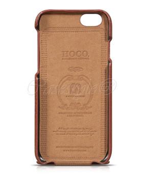 Hoco iPhone 6 6S Premium Leather Flip Case Brown