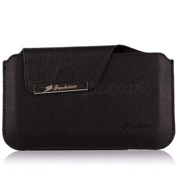 iPhone 6 6S Genuine Leather Pouch Black