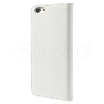 iPhone 6 6S Leather Wallet Case White