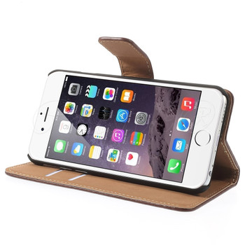 iPhone 6 6S Leather Wallet Case Brown