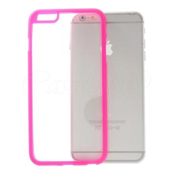 iPhone 6+6S PLUS Bumper Case Pink Clear Back