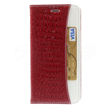 iPhone 6 6S Crocodile Wallet Case Red
