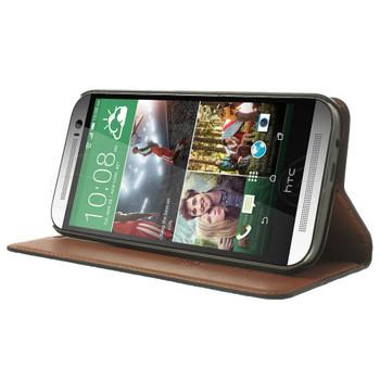 HTC One M8 Genuine Leather Slim Cover Black