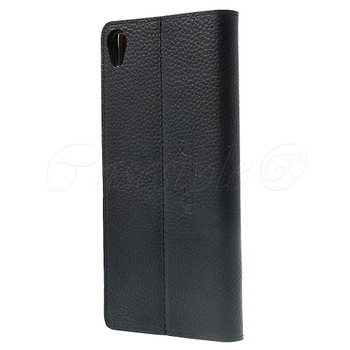 Sony Xperia Z3 Real Leather Case Black