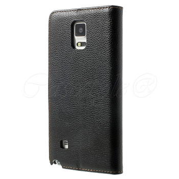 Samsung Galaxy Note 4 Leather Case Black