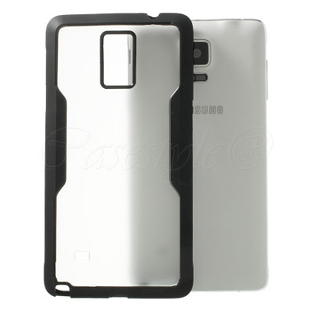 Samsung Galaxy Note 4 Clear Back Bumper Black