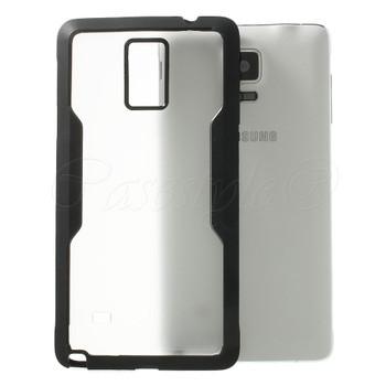 Samsung Galaxy Note 4 Clear Back Bumper Black