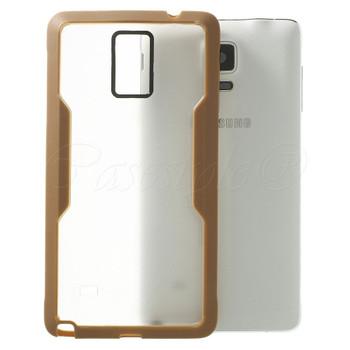 Samsung Galaxy Note 4 Clear Back Bumper Brown