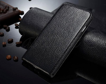 iPhone 6 6S Leather Flip Cover Black