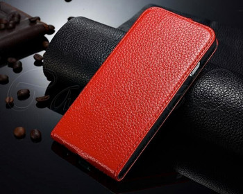 iPhone 6 6S Leather Flip Cover Red