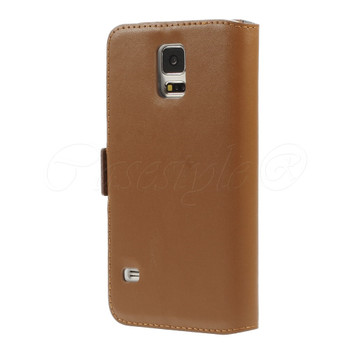 Samsung Galaxy S5/S5 NEO Diamond Leather Case Brown