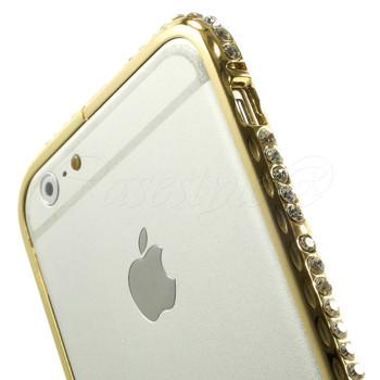 iPhone 6 6S Luxury Diamante Bumper Case Gold