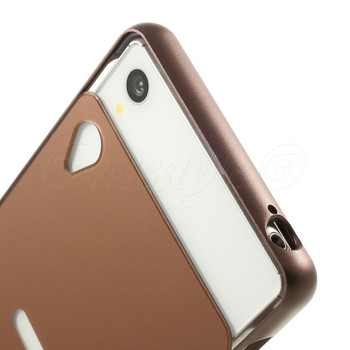 Sony Xperia Z3 Metal Bumper+Hard Back Cover Copper