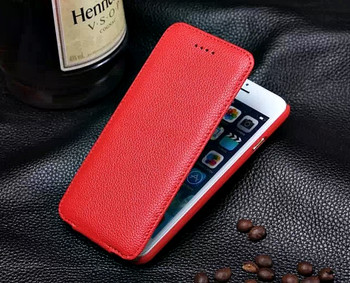 iPhone 6 6S Card Slot Leather Flip Case Red