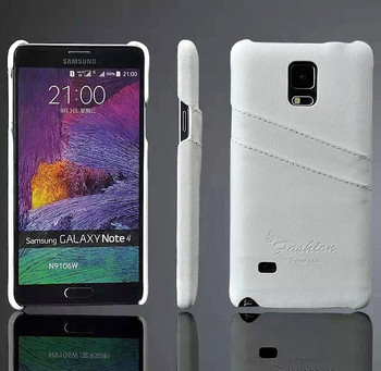 Note 4 white leather back