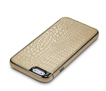iPhone 6 6S Crocodile Style Case Gold